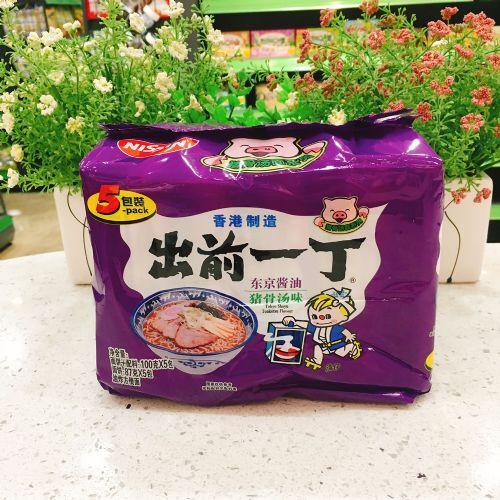出前一丁东京酱油猪骨汤味方便面100g×5包