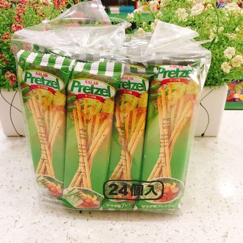 24包百力滋蔬菜味棒饼干384g