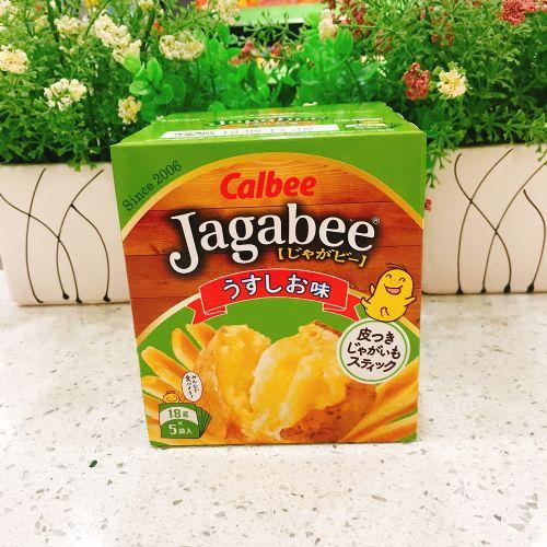 日本Calbee卡乐B咸味薯条(盒装)18g*5