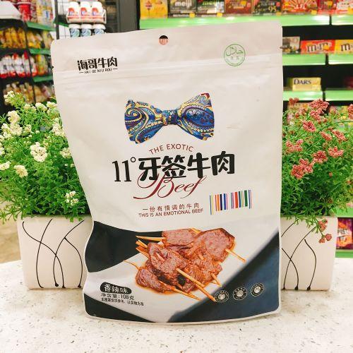 海哥牛肉11度牙签牛肉(香辣味)108g