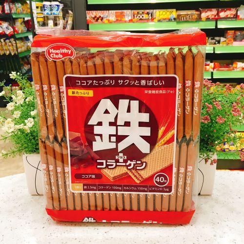 日本Hamada健康俱乐部铁质威化饼40枚(家庭装)
