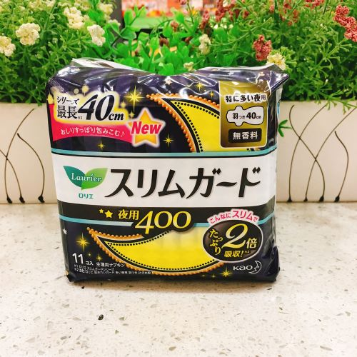 日本花王乐而雅S系列特长夜用卫生巾11片(40cm)