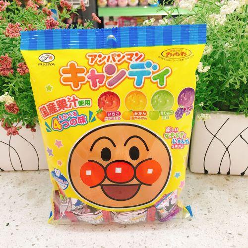 日本不二家面包超人四款果汁糖110g(袋装)