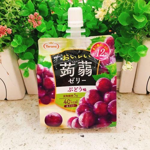 日本Tarami�X�m可吸果汁果冻提子味150g