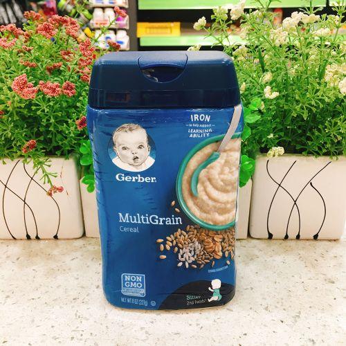 美国嘉宝婴儿米糊米粉(混合味)第二阶段(6个月以上)
