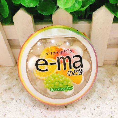 UHA味觉e-ma 杂果味润喉糖33g(圆樽装)