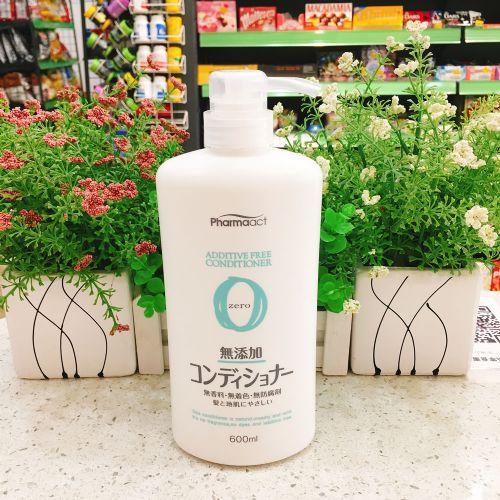日本熊野油脂无添加护发素600ml