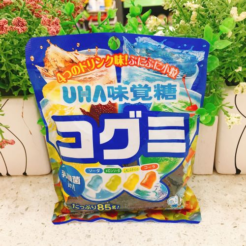 日本UHA悠哈味觉四款饮料乳酸菌软糖85g(袋装)