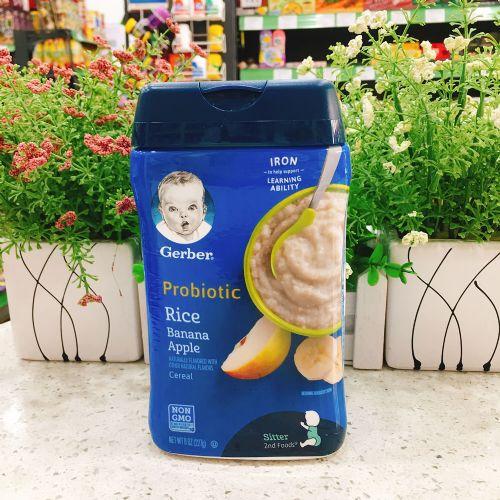 美国嘉宝婴儿米糊米粉(香蕉苹果味)6-8个月