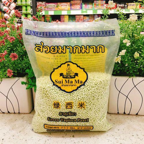 泰国水妈妈绿西米500g