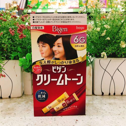 日本hoyu美源发彩染发剂天然植物染发膏6G(自然褐色)