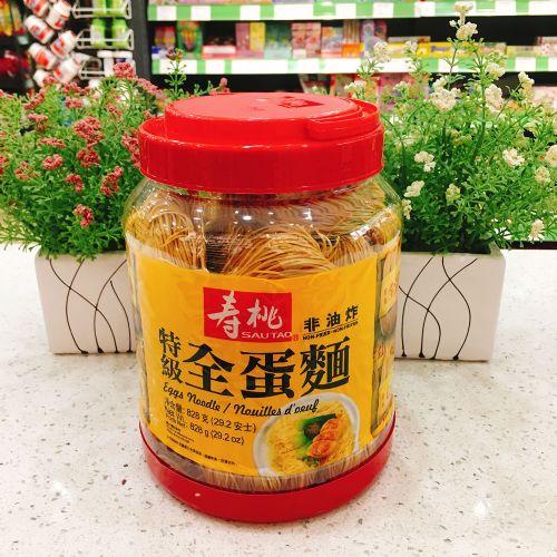 香港寿桃牌特级全蛋面828g(桶装)