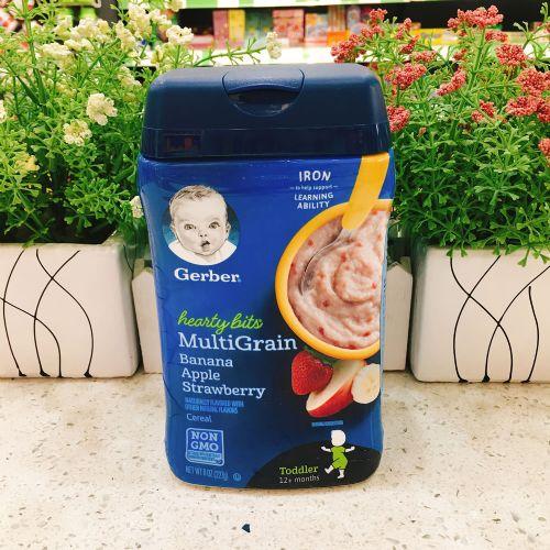美国嘉宝婴儿米糊米粉(香蕉苹果草莓味)适合12月以上