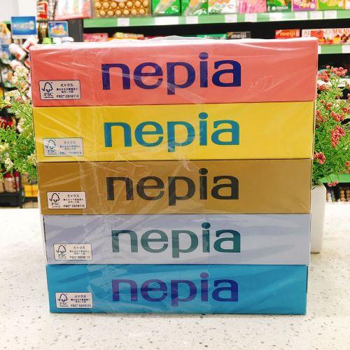 日本妮飘Nepia贵族超柔软无荧光剂纸巾150张×5盒
