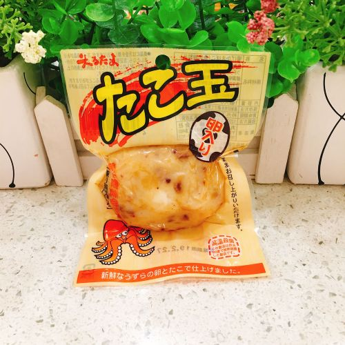 丸玉水产 开袋即食章鱼鱼肉饼 日式鲜美海味