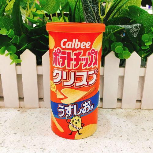 日本卡乐B薄盐薯片50g(筒装)