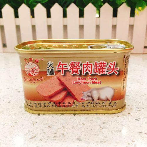 长城牌火腿午餐肉罐头198g