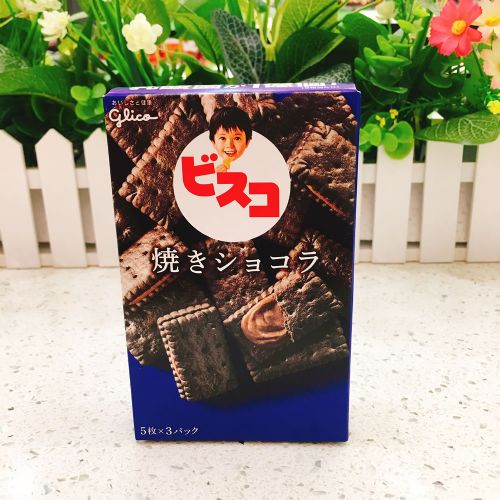日本固力果儿童BB巧克力夹心饼15枚