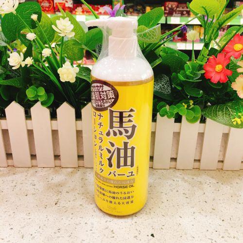 日本Loshi 北海道马油全身滋润补水保湿身体乳液485ml