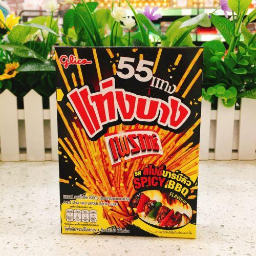 泰国原装 glico/格力高 mini超细百力滋细条 烧烤味BBQ 37g