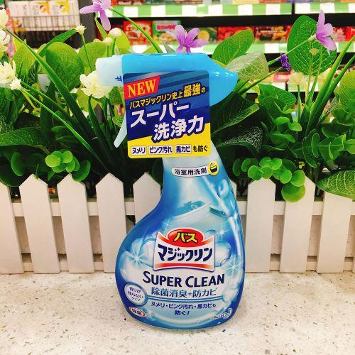 日本花王浴室浴缸多用泡沫喷雾清洁剂洁380ml(蓝色)