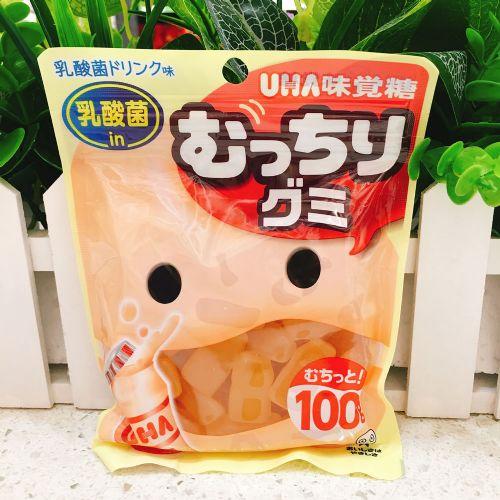 日本UHA悠哈味觉乳酸菌软糖100g(袋装)