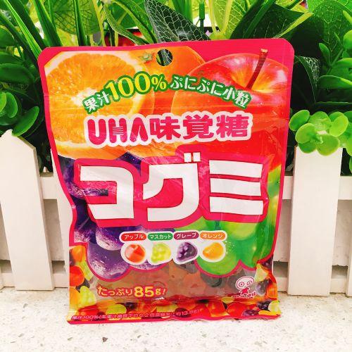 日本UHA悠哈味觉四款水果软糖85g(袋装)