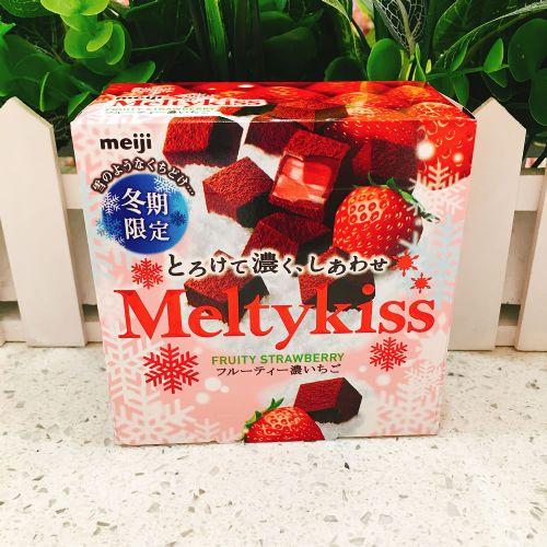 日本明治Meltykiss雪吻巧克力(草莓味)56g