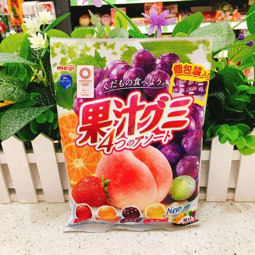日本明治四味什锦果汁软糖90g