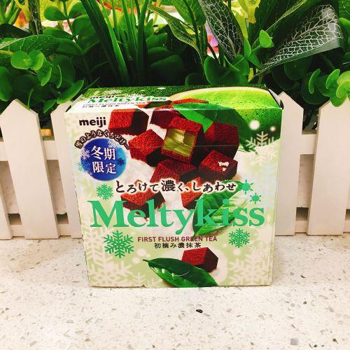 日本明治Meltykiss雪吻巧克力(抹茶味)56g