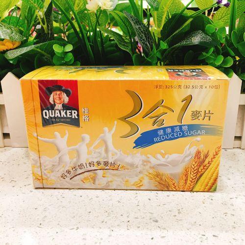 桂格3合1健康减糖麦片 325g