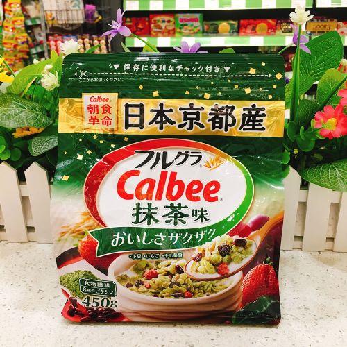 日本Calbee卡乐B抹茶味水果麦片450g