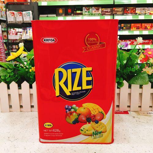 马来西亚KRFOA RIZE什锦味夹心饼628g(铁罐礼盒)