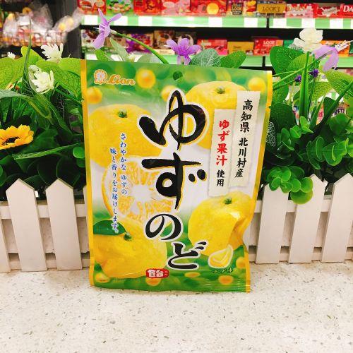 日本狮王柚子润喉糖73g(袋装)