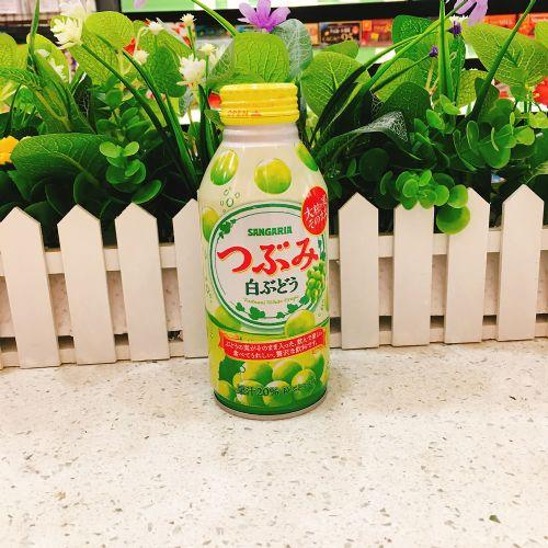 日本新加利亚粒粒青提子饮料380g(铝樽)
