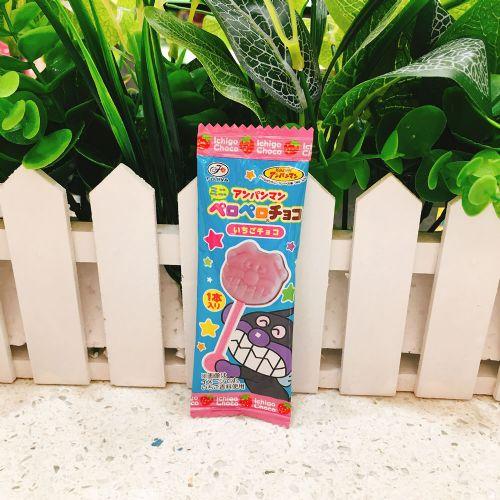 日本不二家面包超人棒棒巧克力5g
