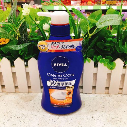 日本Nivea妮维雅浓厚保湿滋润蜂蜜沐浴露乳480ML