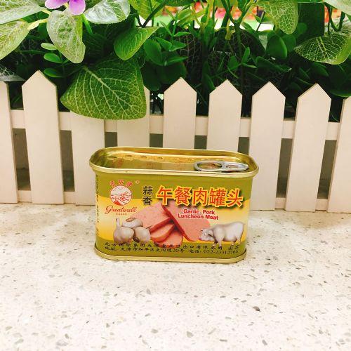 长城牌蒜香午餐肉罐头198g