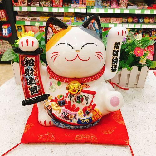 日本福缘猫千客万来招手猫FY86128