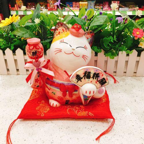日本福缘猫幸福祈愿猫FY35835