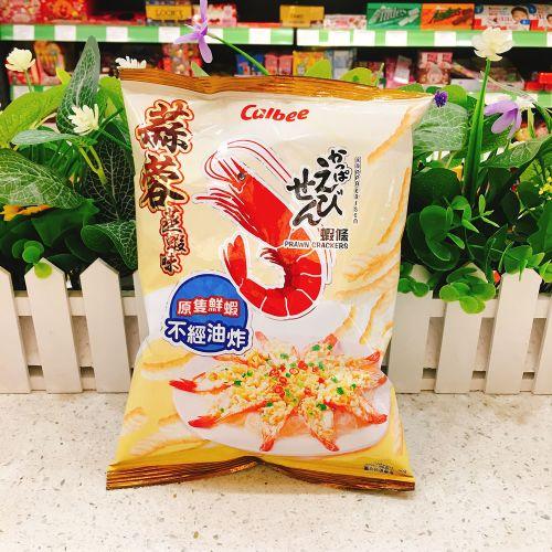 Calbee卡乐B蒜蓉蒸虾味虾条90g