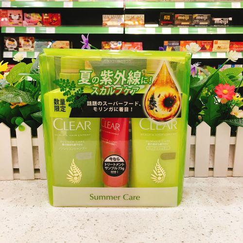 日本清扬绿色夏季限定款头皮护理型洗护套装