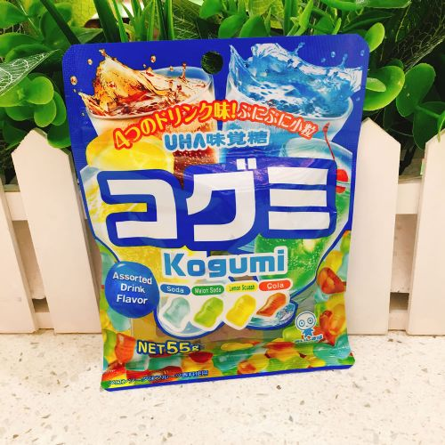 日本UHA悠哈味觉糖4味汽水杂锦软糖55g