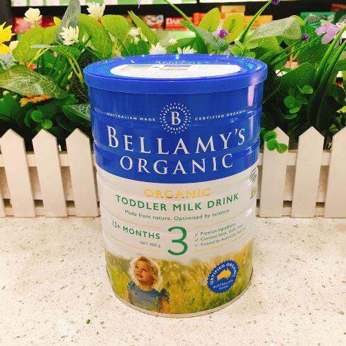 澳洲Bellamys贝拉米3段有机婴儿牛奶粉900g(1-3岁)新包装