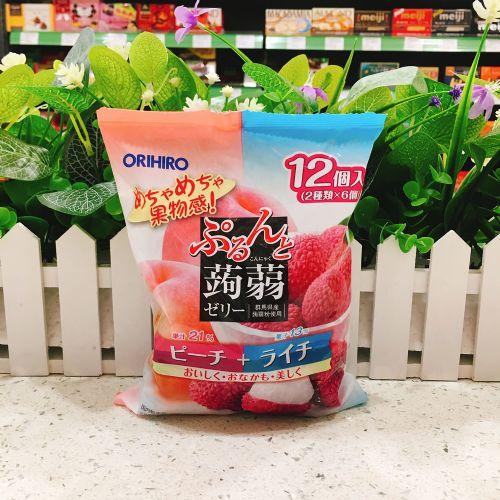 日本ORIHIRO水蜜桃荔枝�X�m12个(袋装)