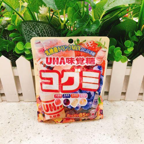日本UHA悠哈味觉杂果乳酸菌软糖85g(袋装)