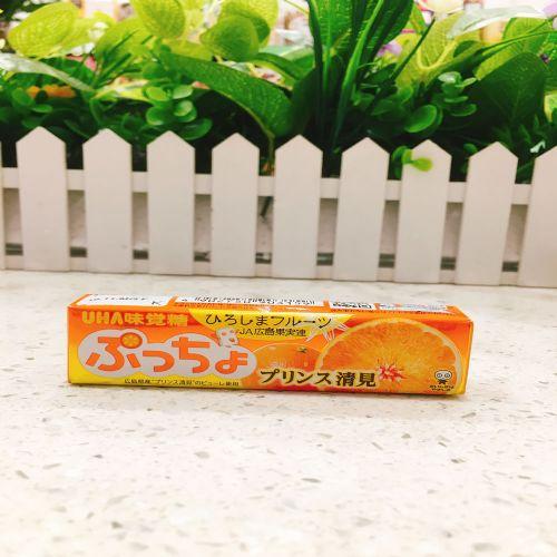 日本UHA悠哈味觉粒粒清见蜜柑软糖10粒(条装)