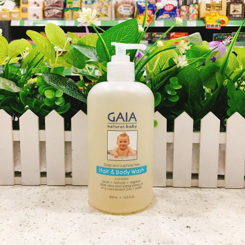 澳洲GAIA婴儿有机二合一洗发水沐浴露500ml