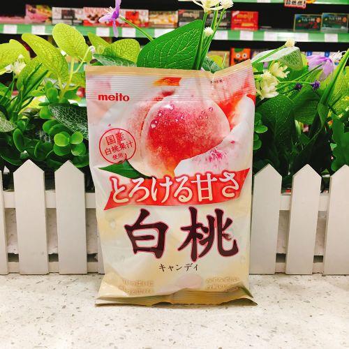 日本meito名图白桃味水果糖75g