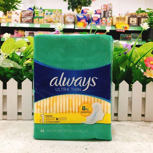 美国Always欧维丝an全舒适超薄日用卫生巾 24cm/48片